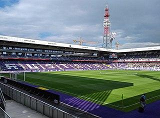 Franz Horr Stadium building in Vienna, Austria