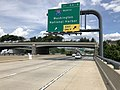 2019-05-27 14 11 14 View north along the outer loop of the Capital Beltway (Interstate 95 and Interstate 495) at Exit 2 (Interstate 295 North, Washington, National Harbor) in National Harbor, Prince Georges County, Maryland.jpg