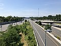 2019-06-28 10 57 01 View south along Interstate 495 (Capital Beltway) from the overpass for the ramp from Interstate 66 eastbound to Interstate 495 northbound on the edge of Idylwood and Merrifield in Fairfax County, Virginia.jpg