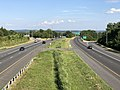 2019-07-14 17 43 08 View east along Interstate 70 from the overpass for Maryland State Route 180 (Jefferson Pike) in Ballenger Creek, Frederick County, Maryland.jpg