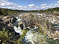 2019-09-07 15 12 31 View north towards the Great Falls of the Potomac River from Overlook 1 about 100 feet downstream of the falls within Great Falls Park in Great Falls, Fairfax County, Virginia.jpg