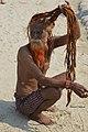 2019 Jan 16 - Kumbh Mela - Portrait of a Sadhu Drying His Hair 2.jpg