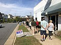 2020-10-20 14 30 16 Line for early voting along Center Street in Herndon, Fairfax County, Virginia.jpg
