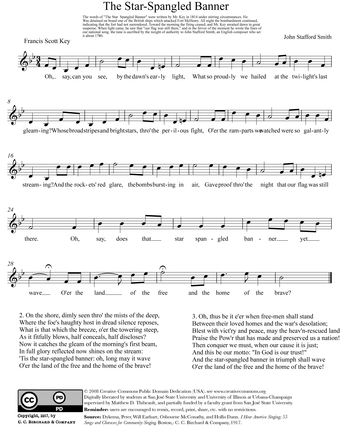 Sheet music version Play (help*info) 2 Star Spangled Banner.png