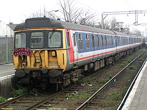 C2c - Class 312 at Shoeburyness station in March 2003