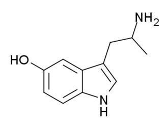 Alpha-Methylserotonin - Image: 5 HO AMT structure