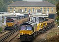 66168 on 6N32 and 66850 with 6C01 in possession at Bickley (21294223674).jpg