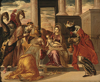 Epiphany (holiday) - Adoration of the Magi by El Greco, 1568, Museo Soumaya, Mexico City