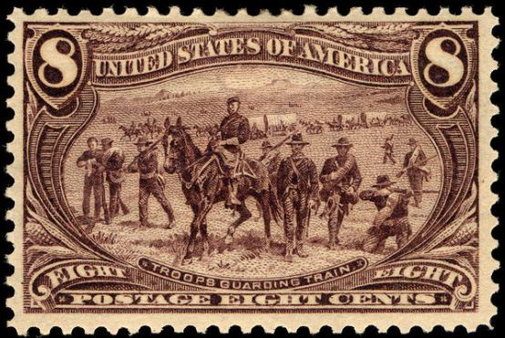 File:8c Troops guarding wagon train 1898 U.S. stamp.tiff