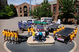 The Solar Car Challenge - End of the 2010 Cross Country Race at the Colorado University