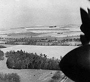 97Sqd-Lancasters-low-level-practice for Augsburg raid