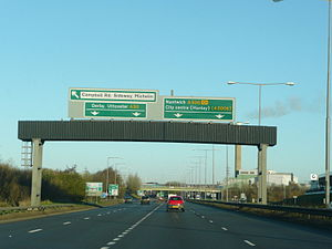 A500 road - Image: A500 and A50 Junction