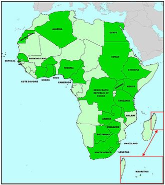 African Journals OnLine - Countries with journals on AJOL