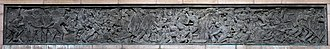 ANZAC War Memorial - A ten-metre-long bronze relief, over the west door by Rayner Hoff.