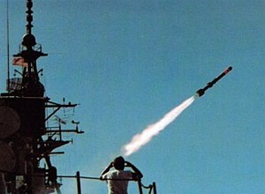 ASROC launch from USS Joseph Strauss (DDG-16) 1978.jpg