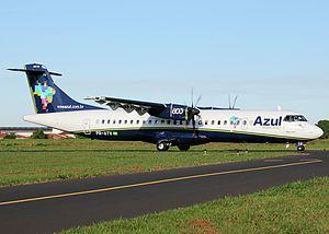 Azul Brazilian Airlines -  An ATR 72-600 of Azul Linhas Aéreas Brasileiras, at São José do Rio Preto Airport, Brazil