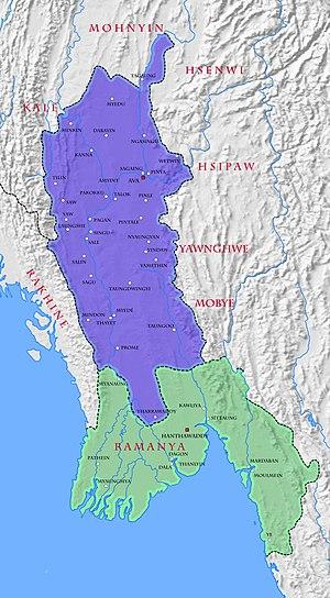 Kingdom of Ava - Kingdom of Ava in 1368.