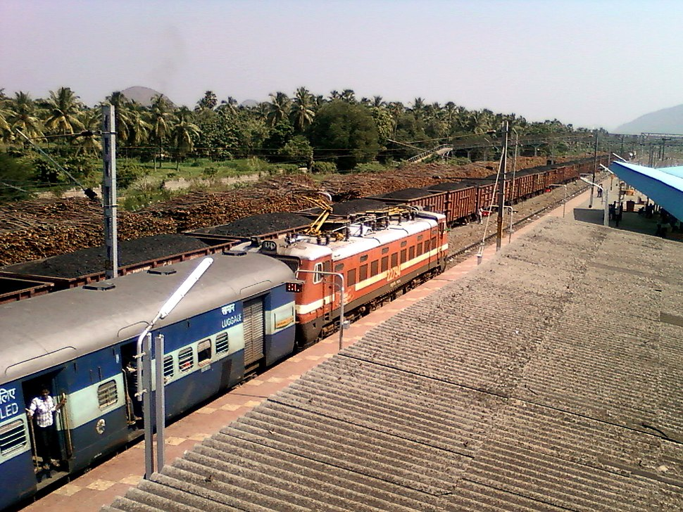 A View of Anakapalle Train station
