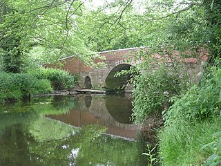 River Meese river in Shropshire, United Kingdom