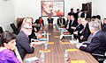 A delegation of the India-US Strategic Dialogue calling on the Union Home Minister, Shri Rajnath Singh, in New Delhi on January 10, 2015.jpg