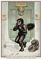 A doctor's front door, with a chimney sweep, in the snow. Wellcome L0025630.jpg