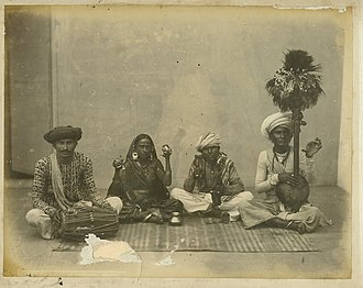 Playing by ear - A group of Hindustani musicians (c. 1870)