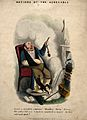 A man, decrepit with gout, helpless in his own home Wellcome V0010854.jpg