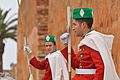 A pair of the Royal Moroccan Guards at the Mausoleum of Mohammed V in Rabat.jpg