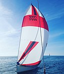 A sail boat in close racing by D Ramey Logan.jpg