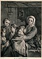A woman breastfeeds a baby and other children stand around h Wellcome V0039253.jpg