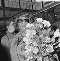 Aankomst Ella Fitzgerald op Schiphol, Ella Fitzgerald, Bestanddeelnr 917-6034.jpg