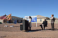 Abba Joplin, a 15 year-old resident of military family housing, delivered a speech at the ribbon cutting for solar energy systems installed on housing units at Fort Bliss, Texas, Feb. 26, 2013 130226-A-UK859-031.jpg