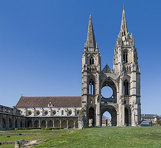 Soissons - The ruins of the Abbey of St Jean des Vignes.