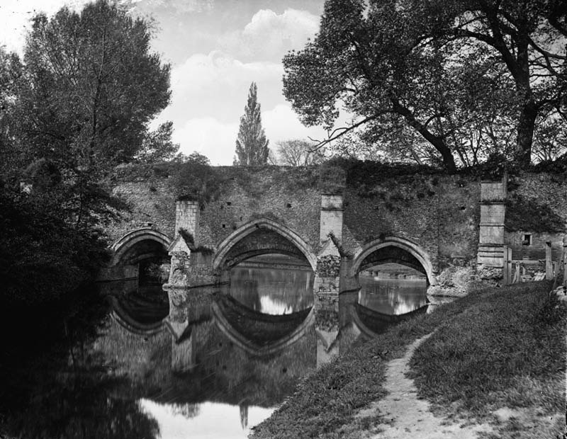 Abbots Bridge from Eastgate Street Bury St Edmunds Suffolk