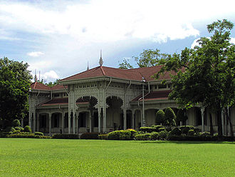 Dusit Palace - The Abhisek Dusit Throne Hall was built in 1904 as an audience hall and entertainment venue for the Dusit Palace complex.