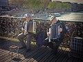 Accordionists on Pont des Arts, Paris 29 March 2014.jpg