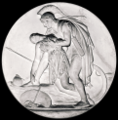 Achilles and Penthesilea 1837 CC0 from the Thorvaldsens Museum A496 white-balanced black-bg.png