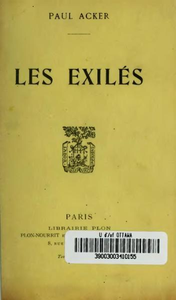 File:Acker - Les Exilés, 1911.djvu