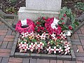 Acocks Green Library, Shirley Road, Acocks Green - Memorial stone to World War One and Two (4327973405).jpg