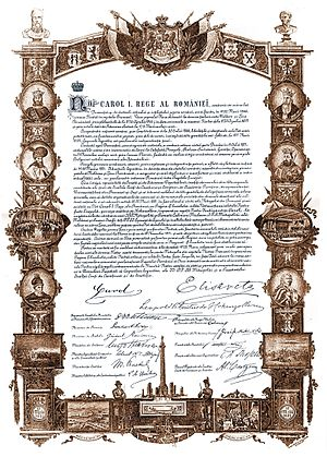 Eugeniu Stătescu - The Act of Proclamation of Romanian Kingdom