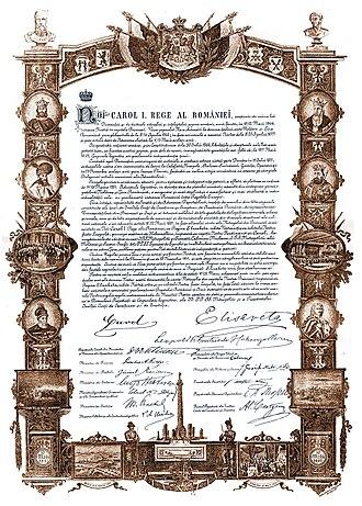 Eugeniu Stătescu - The Act of Proclamation of Romanian Kingdom