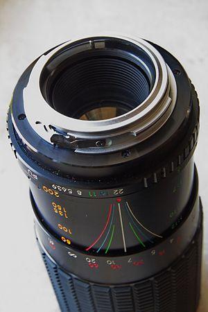Pentax K-mount - M42 lens (Beroflex) with Pentax K-mound adapter