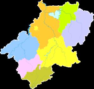 Xuancheng - Image: Administrative Division Xuancheng