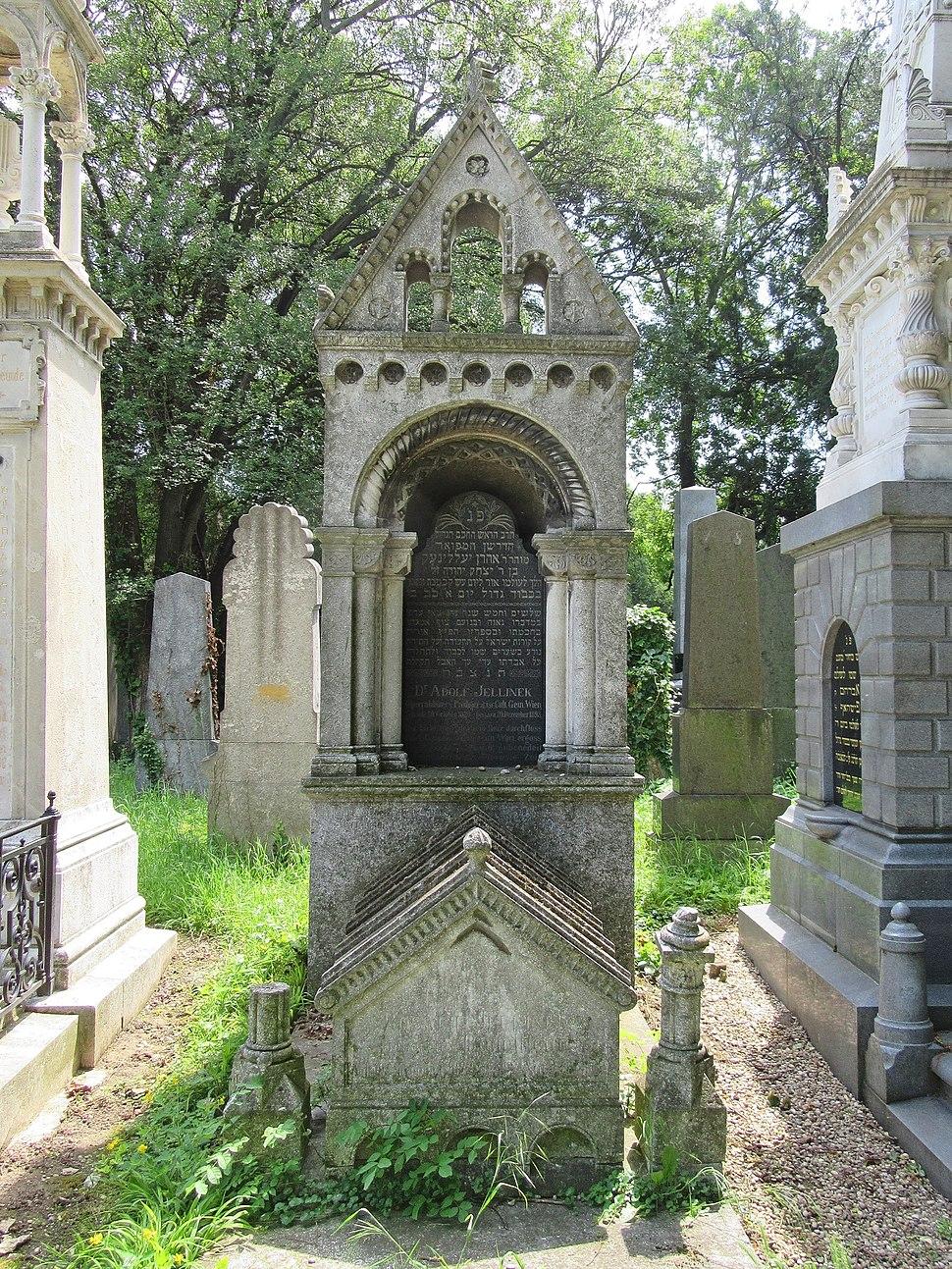 Adolf Jellinek grave, Vienna, 2016