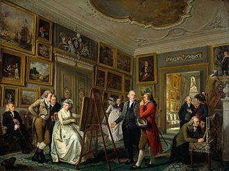 Adriaan de Lelie - The Art Gallery of Jan Gildemeester Jansz, 1794-1795, now at the Rijksmuseum Amsterdam