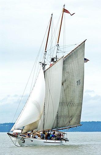 Adventuress (schooner) - Image: Adventuress Under Sail