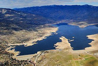Isabella Dam - Isabella Dam, with Lake Isabella beyond.