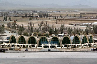 Kandahar International Airport - Aerial view of the airport in 2005