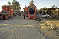 Afghani trucks near the Wesh border.JPG