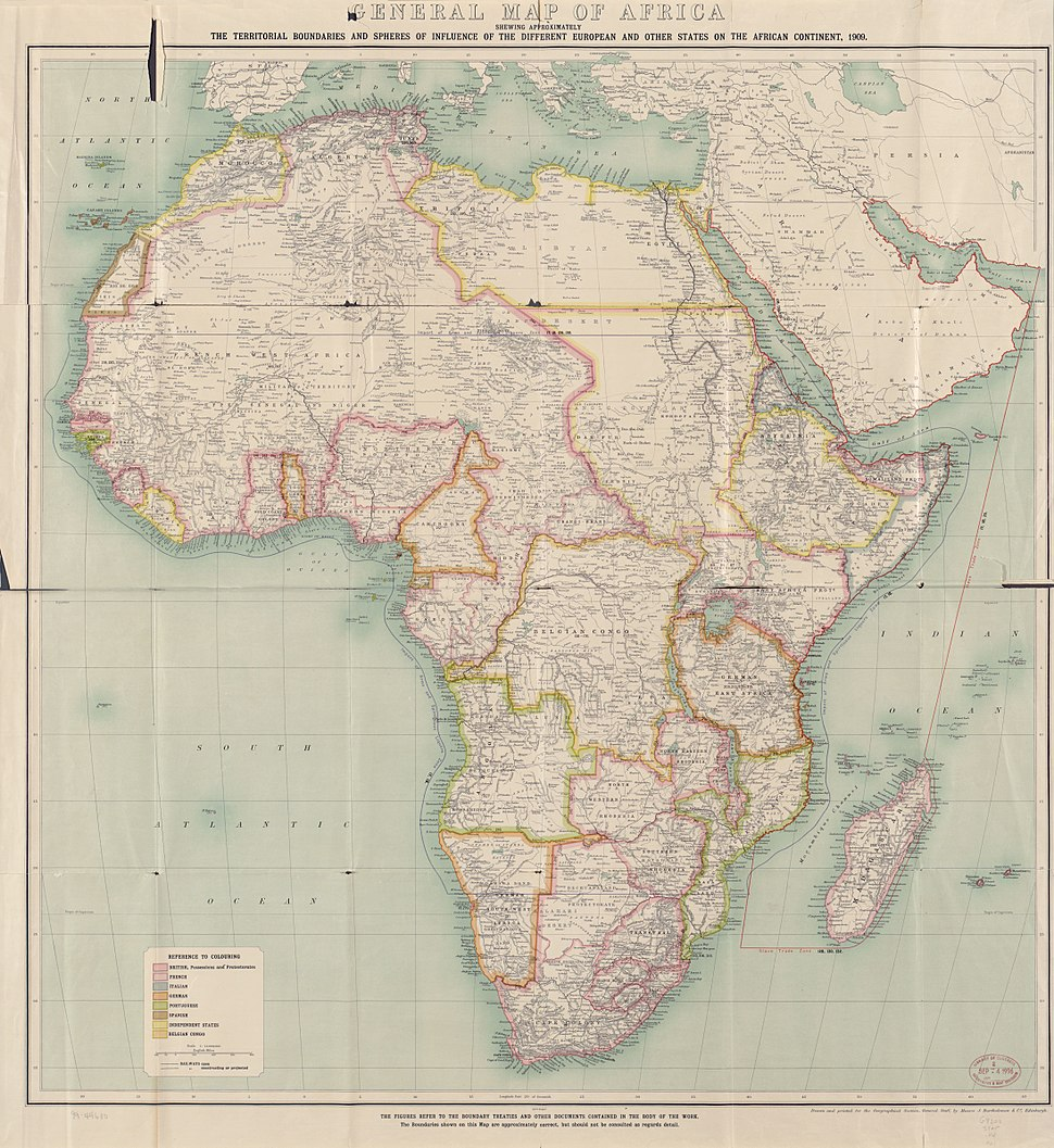 Africa 1909, Edward Hertslet (Map of Africa by treaty, 3rd edition)